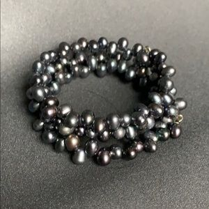 Freshwater pearl wrap 3x bracelet new perfect gift